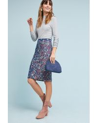 Maeve - Floral Knit Pencil Skirt - Lyst