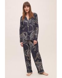Anthropologie The Jag Print Pyjama Set - Blue