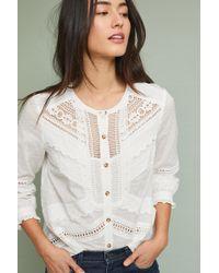 Feather & Bone - Cambridge Lace-trim Shirt - Lyst