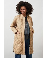 SELECTED Fillipa Quilted Coat - White