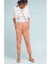 Anthropologie | Striped Linen Pants | Lyst