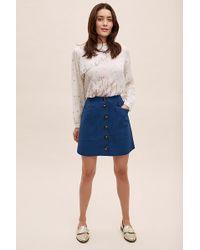 Anthropologie - Buttondown Mini Skirt - Lyst