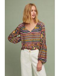 Maeve Ceresco Peasant Top - Multicolour