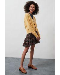Anthropologie Iris Flounced Mini Skirt - Multicolour
