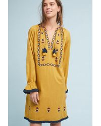 Anthropologie - Jacinta Embroidered Peasant Dress - Lyst