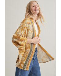 Bl-nk Metallic Kimono - Yellow