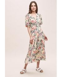 Faithfull The Brand Vittoria Floral-print Dress - Pink