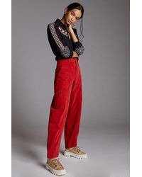 Anthropologie Tapered Corduroy Trousers