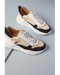 Anthropologie Snake-print Oversized Trainers - Multicolour