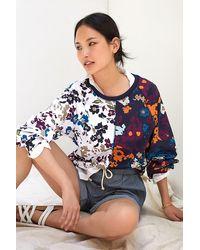 Maeve Puff-sleeved Sweatshirt - Blue