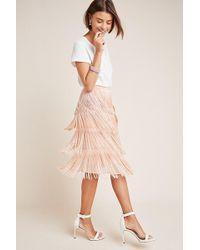 c01efedc9 Maeve Pleated Velvet Skirt in Blue - Lyst