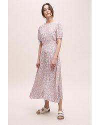 Faithfull The Brand Beline Floral-print Midi Dress - Pink