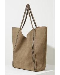 Anthropologie - Snake-print Chain Tote - Lyst