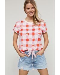 Maeve Picnic Graphic Tee - Pink