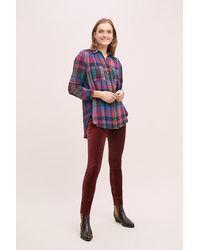 Anthropologie Askel Skinny Velvet Jeans - Orange