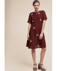 Moulinette Soeurs Beaded Firefly Dress, Purple - Multicolour