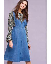Loup - Doutzen Denim Pinafore Dress, Blue - Lyst