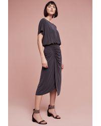 Moulinette Soeurs Etta Ruched Midi Dress, Grey