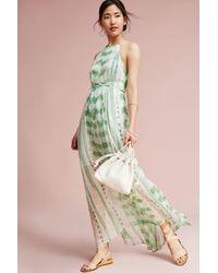 Moulinette Soeurs Vera Silk Maxi Dress - Green
