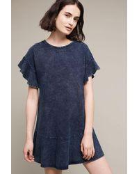 Saturday/sunday - Ruffled Indigo Dress, Blue - Lyst
