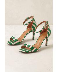 Vicenza - Emerald Striped Heels - Lyst