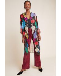 Anthropologie Bea Shimmer Duster Kimono - Multicolour