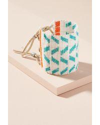 Sidai Designs - Wide Chevron Bead Cuff Bracelet - Lyst