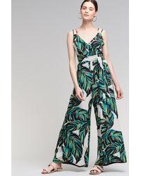 Anthropologie - Palm Leaf Tie-waist Jumpsuit - Lyst
