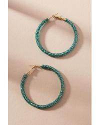 Olivia Dar - Dazzling Beaded Hoop Earrings - Lyst