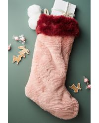 Anthropologie | Colorful Faux Fur Stocking | Lyst