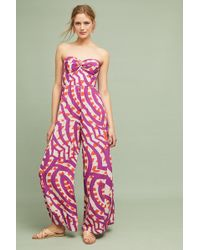 Plenty by Tracy Reese - Shyra Printed-strapless Jumpsuit - Lyst