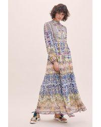 Anthropologie Robe longue ornée de broderies Joanie - Multicolore
