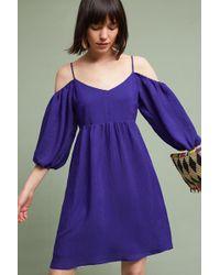 Moulinette Soeurs Olga Cold-shoulder Dress, Blue