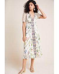 Geisha Designs Embroidered Floral Midi Dress - Multicolour