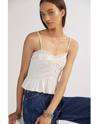Sunday In Brooklyn Ruched Tank - White