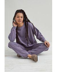 Anthropologie Dropped Shoulder Sweatshirt - Purple
