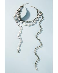 Ela Rae - Moonstone Layered Necklace - Lyst