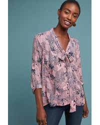 bfed6940c2c147 Anthropologie - Colloquial Neck-tie Blouse - Lyst