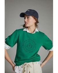 Anthropologie Let's Grow Graphic Sweatshirt - Blue
