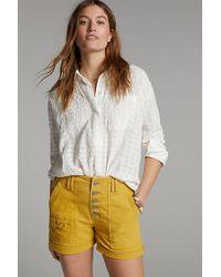 Anthropologie Wanderer Denim Shorts - Yellow