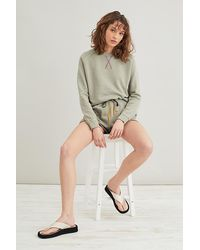 Anthropologie High-rise Lounge Shorts - Natural