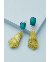 Anthropologie Pendants d'oreilles en pierre semi-précieuse Grace - Vert