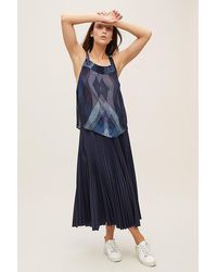 Conditions Apply Clarrie Printed-cami Top - Blue