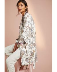 Floreat - Brushed-fleece Robe - Lyst