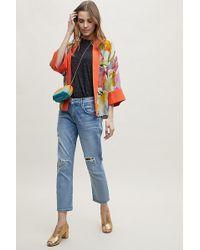 Bl-nk - Cropped Floral-print Kimono - Lyst