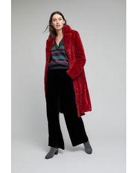 Gestuz - Bisera Faux Fur Longline Coat - Lyst