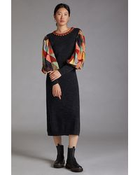 Bl-nk Quilted Knit Maxi Dress - Black