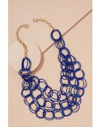 Anthropologie | Charlotta Beaded-circle Necklace | Lyst
