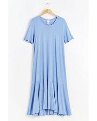 Kowtow Organic-cotton Jersey Maxi Dress - Blue