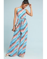 Plenty by Tracy Reese Julliard Striped Jumpsuit - Blue